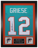 Bob Griese Autographed & Framed Blue Dolphins Jersey Auto JSA COA D1-S