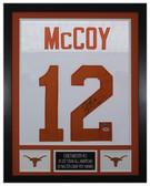 Colt McCoy Autographed & Framed White Longhorns Jersey PSA COA D2-S