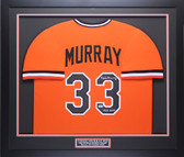 Eddie Murray Autographed HOF 2003 & Framed Orange Baltimore Orioles Jersey Beckett COA
