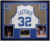 Christian Laettner Autographed & Framed White Duke Jersey Auto JSA COA