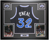 Shaquille O'Neal Autographed & Framed Black P/S Magic Jersey Auto JSA COA