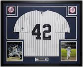Mariano Rivera Autographed & Framed P/S Yankees Jersey Auto Beckett COA