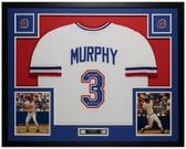 Dale Murphy Autographed & Framed White Braves Jersey Auto JSA COA