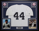 Reggie Jackson Autographed & Framed White P/S Yankees Jersey Auto Tristar COA