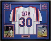 Nolan Ryan Autographed & Framed White Mets Jersey Auto Beckett COA
