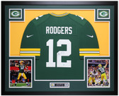 Aaron Rodgers Autographed & Framed Green Packers Jersey Auto Steiner COA