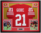 Frank Gore Autographed & Framed Red 49ers Jersey Auto PSA COA