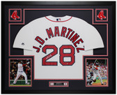 J.D. Martinez Autographed & Framed White Red Sox Jersey Auto Steiner COA