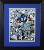 Barry Sanders Autographed & Framed 8x10 Detroit Lions Photo Beckett COA D-8E1