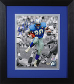 Barry Sanders Autographed & Framed 8x10 Detroit Lions Photo PSA/DNA D-8E2