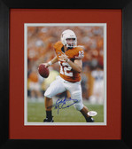 Colt McCoy Autographed & Framed 8x10 Texas Longhorns Photo JSA COA D-8E