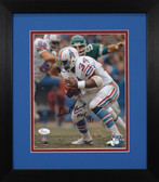 Earl Campbell Autographed & Framed 8x10 Houston Oilers Photo JSA COA D-8E
