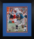 Earl Campbell Autographed & Framed 8x10 Houston Oilers Photo JSA COA D-8E1