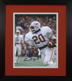 Earl Campbell Autographed & Framed 8x10 Texas Longhorns Photo JSA COA D-8E2