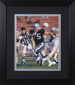 Howie Long Autographed & Framed 8x10 Oakland Raiders Photo JSA COA D-8E1