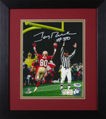 Jerry Rice Autographed & Framed 8x10 49ers Photo PSA/DNA COA D-8E