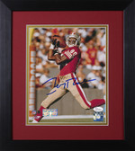 Jerry Rice Autographed & Framed 8x10 San Francisco 49ers Photo JSA COA D-8E