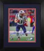 Julian Edelman Autographed & Framed 8x10 New England Patriots Photo Beckett COA D-8E