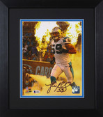 Luke Kuechly Autographed & Framed 8x10 Panthers Photo Beckett COA D-8E