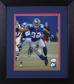 Michael Strahan Autographed & Framed 8x10 Giants Photo JSA COA D-8E