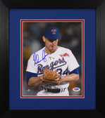 Nolan Ryan Autographed & Framed 8x10 Texas Rangers Photo PSA/DNA COA D-8E