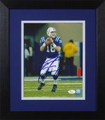 Peyton Manning Autographed & Framed 8x10 Colts Photo JSA COA D-8E