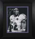 Ray Lewis Autographed & Framed 8x10 Ravens Photo JSA COA D-8E