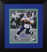 Russell Wilson Autographed & Framed 8x10 Seattle Seahawks Photo RW Holo D-8E2