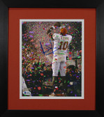 Vince Young Autographed & Framed 8x10 Texas Longhorns Photo Beckett D-8E