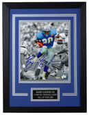 Barry Sanders Autographed & Framed 8x10 Detroit Lions Photo Beckett COA D-8C1