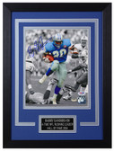 Barry Sanders Autographed & Framed 8x10 Detroit Lions Photo PSA/DNA D-8C2