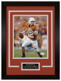 Colt McCoy Autographed & Framed 8x10 Texas Longhorns Photo JSA COA D-8C