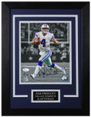 Dak Prescott Autographed & Framed 8x10 Dallas Cowboys Photo JSA COA D-8C
