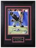Deion Sanders Autographed & Framed 8x10 Atlanta Falcons Photo JSA COA D-8C1
