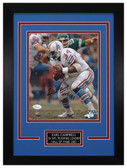 Earl Campbell Autographed & Framed 8x10 Houston Oilers Photo JSA COA D-8C