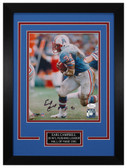 Earl Campbell Autographed & Framed 8x10 Houston Oilers Photo JSA COA D-8C1