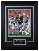 Howie Long Autographed & Framed 8x10 Oakland Raiders Photo JSA COA D-8C1