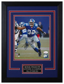 Michael Strahan Autographed & Framed 8x10 Giants Photo JSA COA D-8C