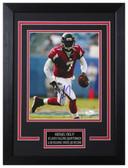 Michael Vick Autographed & Framed 8x10 Falcons Photo JSA COA D-8C
