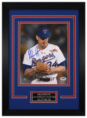 Nolan Ryan Autographed & Framed 8x10 Texas Rangers Photo PSA/DNA COA D-8C