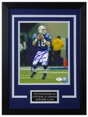 Peyton Manning Autographed & Framed 8x10 Colts Photo JSA COA D-8C