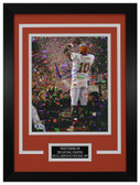 Vince Young Autographed & Framed 8x10 Texas Longhorns Photo Beckett D-8C