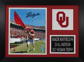 Baker Mayfield Autographed & Framed 8x10 Oklahoma Photo Beckett Photo COA 8A