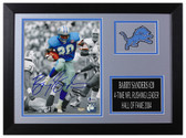 Barry Sanders Autographed & Framed 8x10 Detroit Lions Photo Beckett COA D-8A1