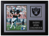Bo Jackson Autographed & Framed 8x10 Oakland Raiders Photo JSA COA D-8A1
