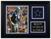 Bob Lilly Autographed & Framed 8x10 Dallas Cowboys Photo JSA COA D-8A