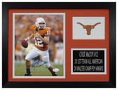 Colt McCoy Autographed & Framed 8x10 Texas Longhorns Photo JSA COA D-8A