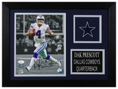 Dak Prescott Autographed & Framed 8x10 Dallas Cowboys Photo JSA COA D-8A