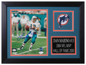 Dan Marino Autographed & Framed 8x10 Miami Dolphins Photo JSA COA D-8A3