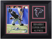 Deion Sanders Autographed & Framed 8x10 Atlanta Falcons Photo JSA COA D-8A1